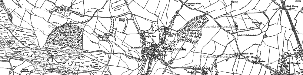 Old map of Withycombe in 1887