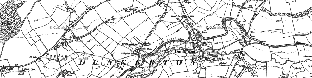 Old map of Withyditch in 1884