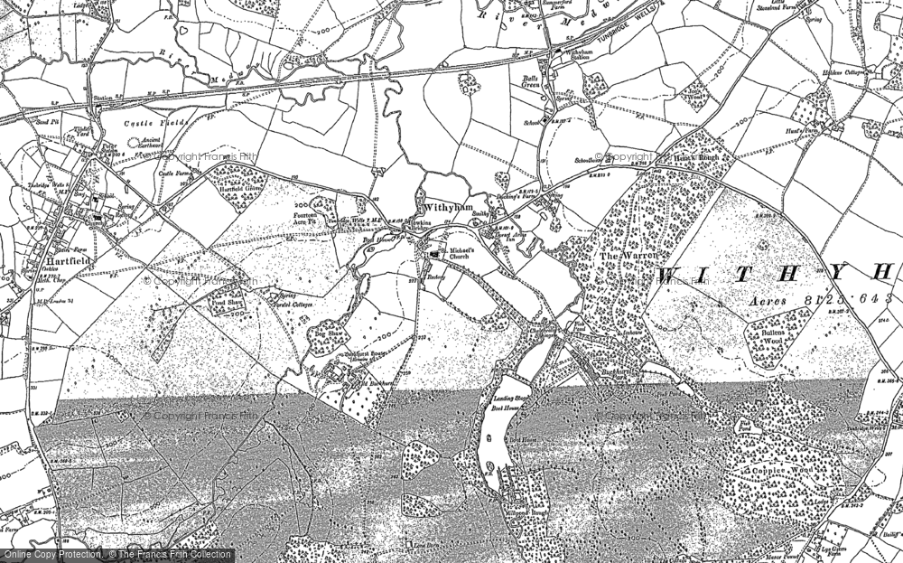 Old Map of Withyham, 1897 - 1908 in 1897
