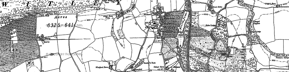 Old map of Wheelerstreet in 1870