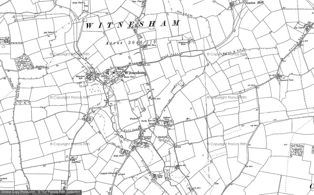 Map of Witnesham, 1881 - 1883