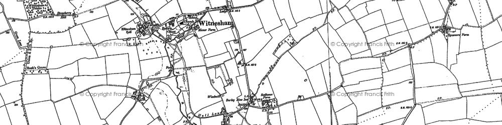 Old map of Witnesham in 1881