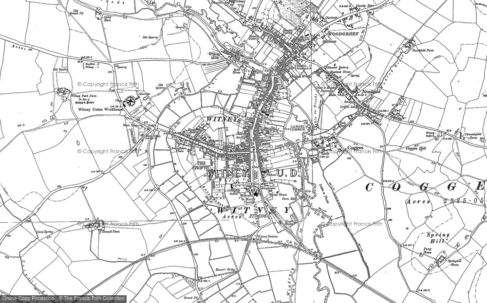 Old Map of Witney, 1898 in 1898