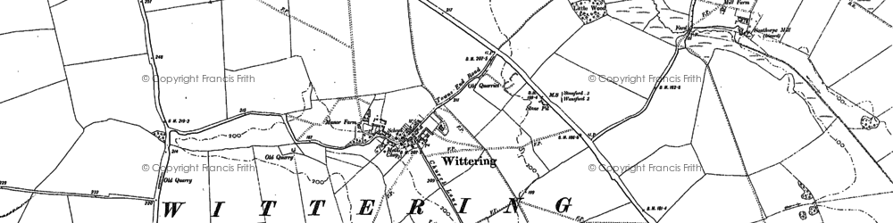 Old map of White Water Reservoir in 1885