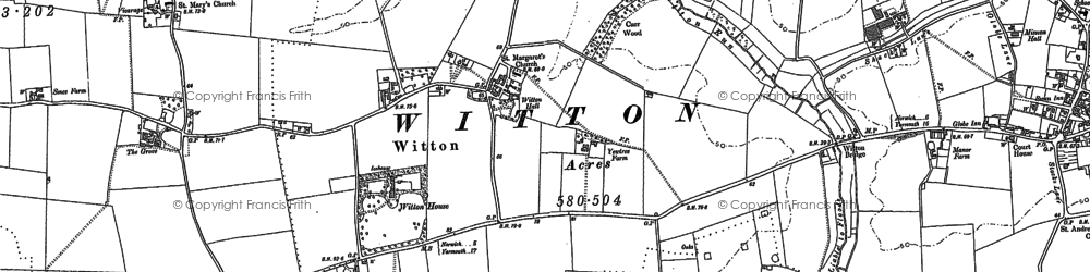 Old map of Witton in 1881