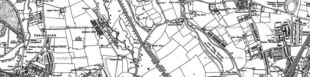 Old map of Witton in 1901