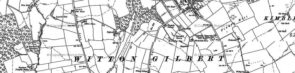 Old map of Witton Gilbert in 1895