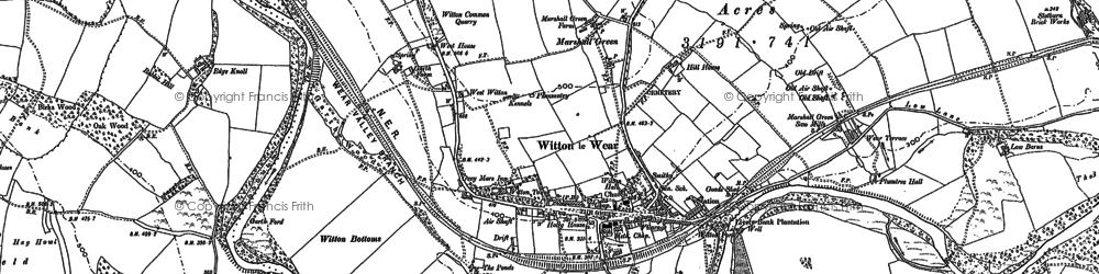 Old map of Witton Castle in 1896