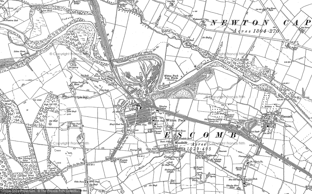Map of Witton Park, 1896