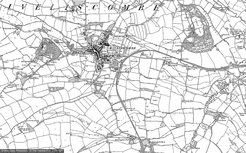 Old Map of Historic Map covering Abbotsfield in 1887
