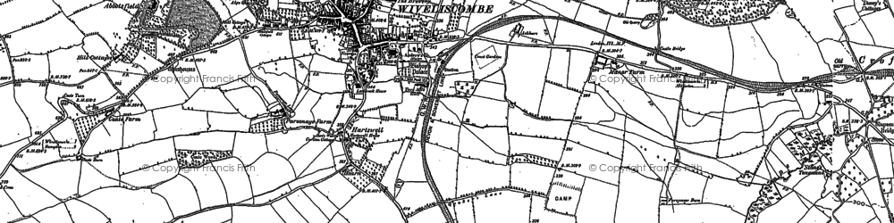 Old map of Abbotsfield in 1887