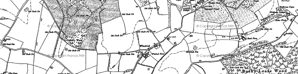 Old map of Wivelrod in 1895