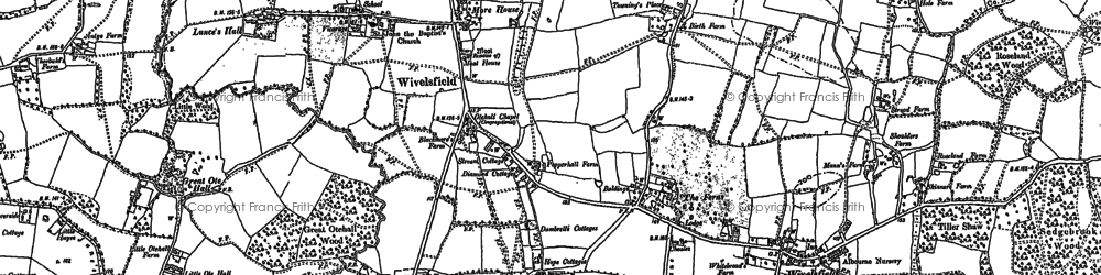 Old map of Wivelsfield in 1896