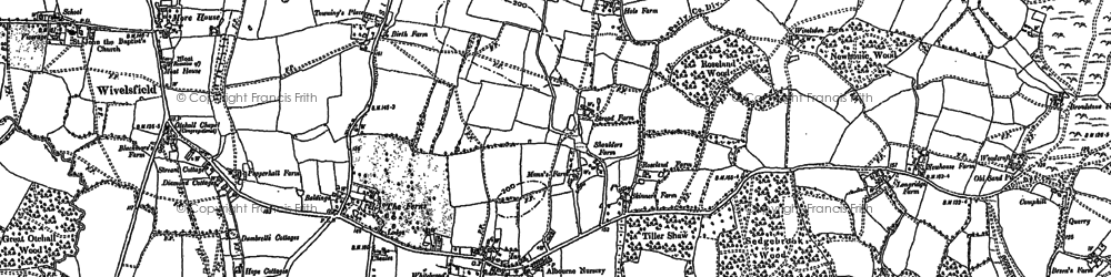 Old map of Wivelsfield Hall in 1896