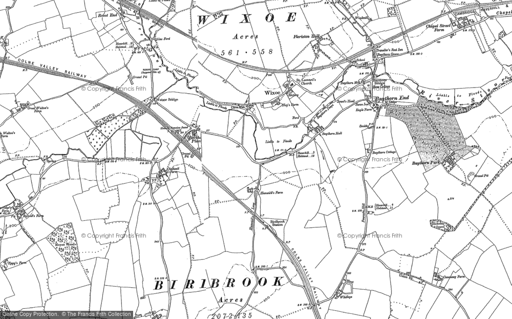 Map of Wixoe, 1896 - 1902