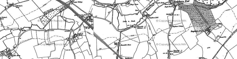 Old map of Wixoe in 1896