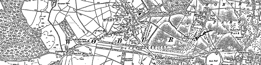 Old map of Birchmoor Green in 1900