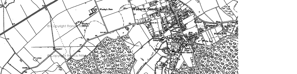 Old map of Aspley Heath in 1900