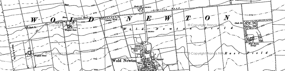 Old map of Wold Cottage, The in 1888