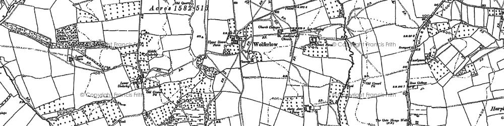 Old map of Wolferlow in 1902