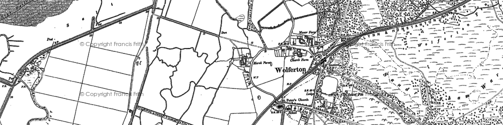 Old map of Wolferton in 1904