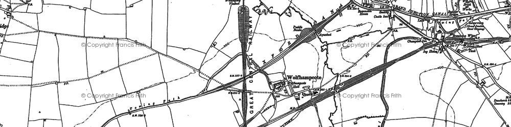 Old map of Wolfhampcote in 1899