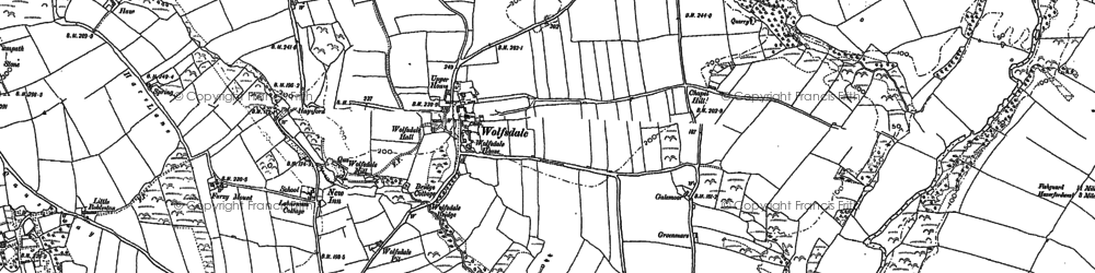 Old map of Wolfsdale in 1887