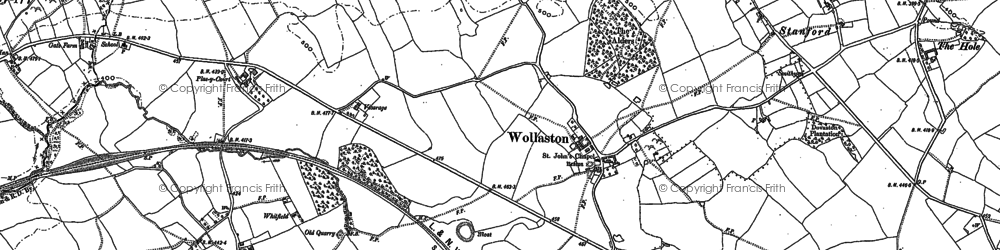 Old map of Wollaston in 1901