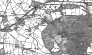 Old Map of Wollaton, 1881 - 1899