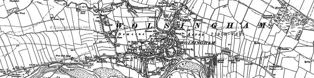Old map of Baal Hill Ho in 1895