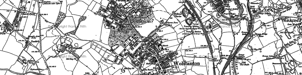 Old map of Wolstanton in 1878