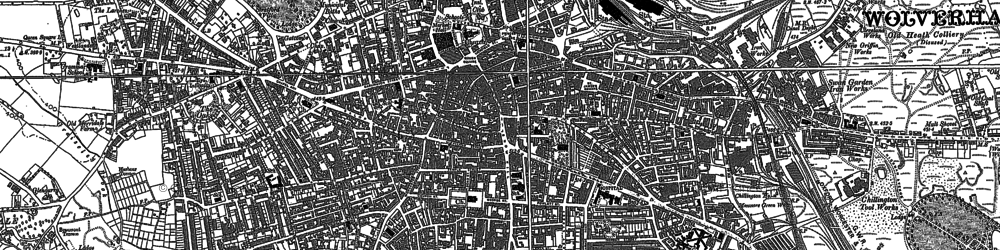 Old map of Wolverhampton in 1885