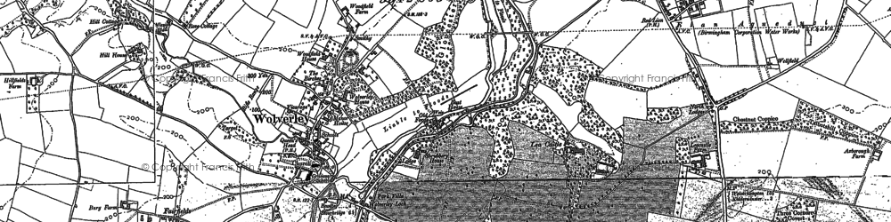 Old map of Wolverley in 1882