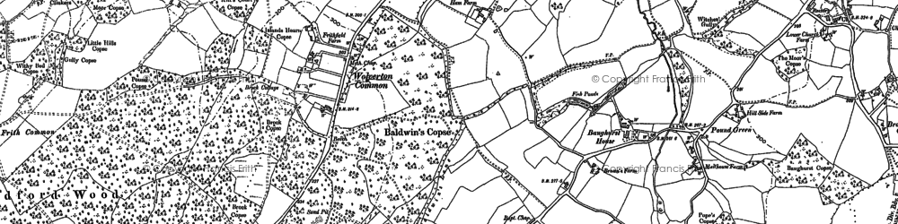 Old map of Wheat Hold in 1894