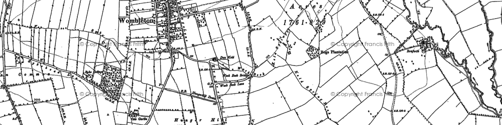 Old map of Tilehouse Br in 1891