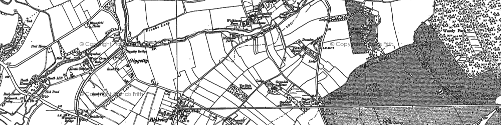 Old map of Wodehouse, The in 1881