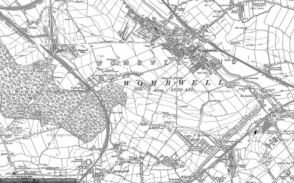 Old Map of Wombwell, 1851 - 1890 in 1851