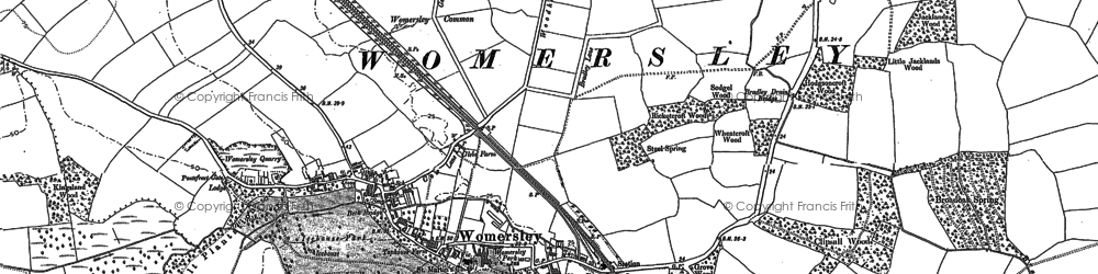 Old map of Wormesley Park in 1890