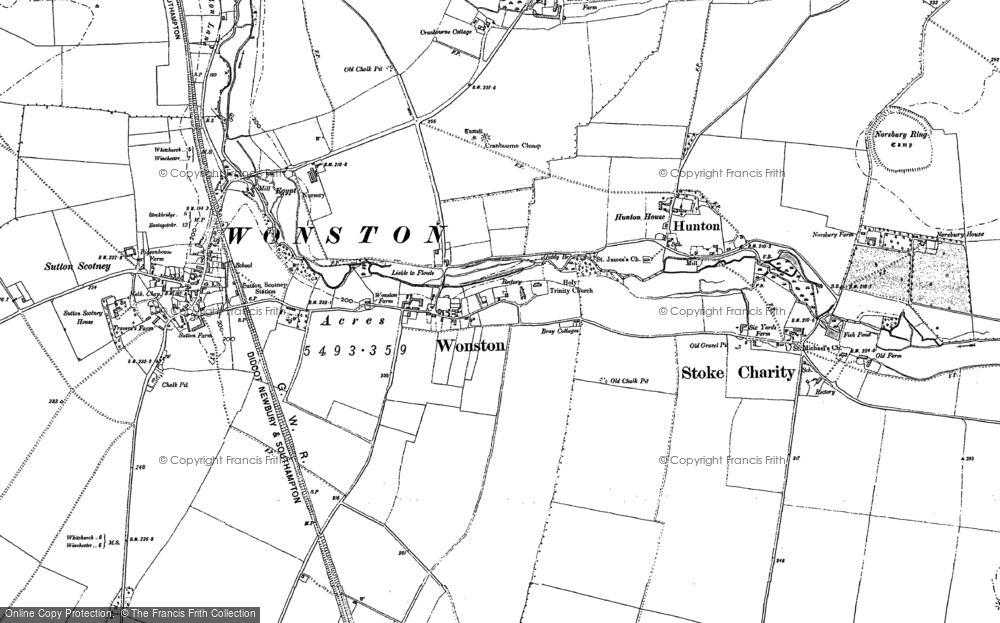 Old Map of Wonston, 1894 in 1894