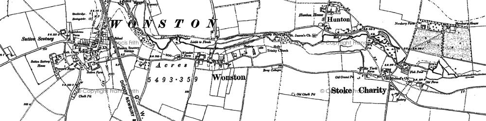 Old map of Tidbury Ring in 1894