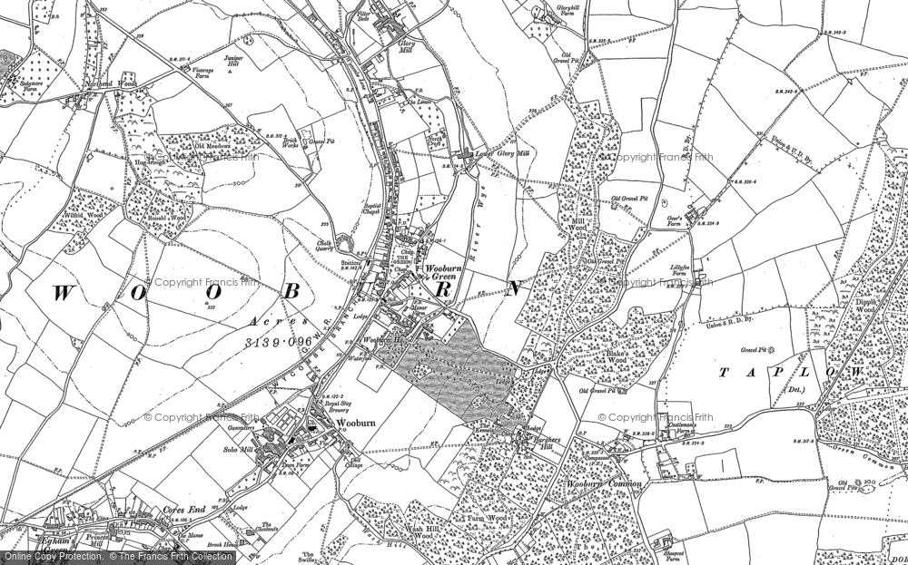 Map of Wooburn Green, 1897