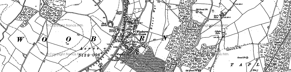 Old map of Wooburn Green in 1897