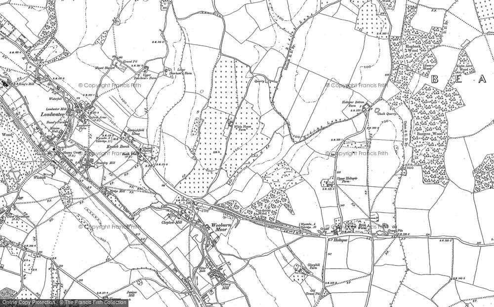 Old Map of Wooburn Moor, 1897 - 1910 in 1897