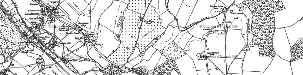 Old map of Wooburn Moor in 1897