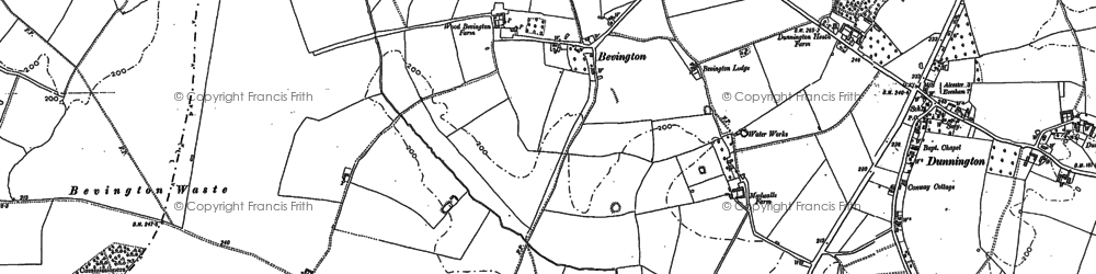 Old map of Wood Bevington in 1885