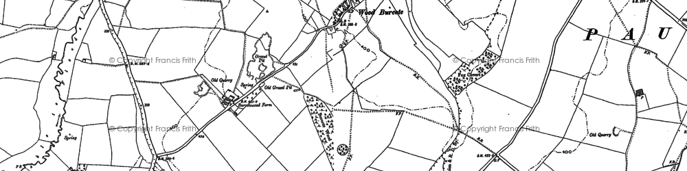 Old map of Wood Burcote in 1883