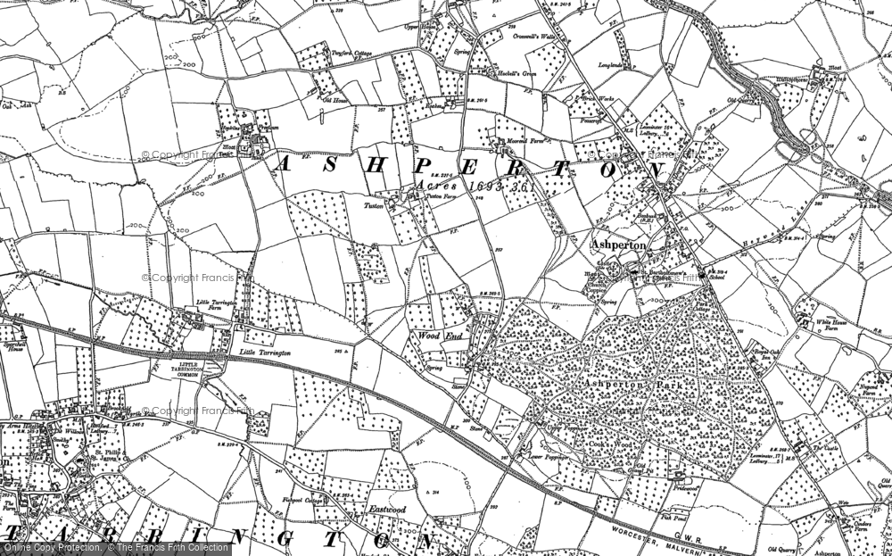 Old Map of Wood End, 1886 in 1886