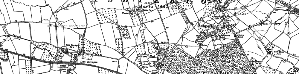 Old map of Wood End in 1886
