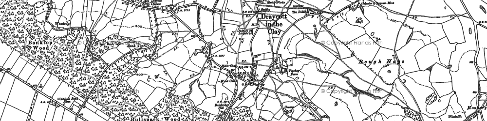 Old map of Draycott in the Clay in 1882