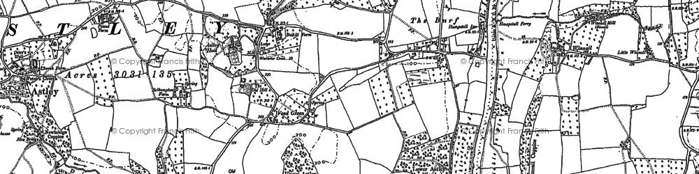 Old map of Woodhampton Ho in 1883